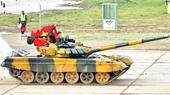 Kíp xe số 2 Đội tuyển tăng Việt Nam về đích đầu tiên tại cuộc đua xe tăng Army 2020