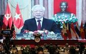 Tổng bí thư, Chủ tịch nước Nguyễn Phú Trọng phát biểu trực tuyến tại lễ Khai mạc AIPA 41