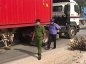 Kiểm sát hiện trường xe container lấn làn cán chết người