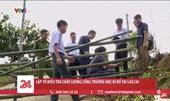 Cổng trường bị sập ở Lào Cai Trụ gạch không cốt thép, kinh phí 14 triệu đồng