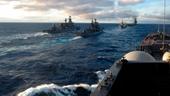 Chiến hạm và tàu ngầm Nga xuất hiện dày đặc ngoài khơi bờ biển Syria