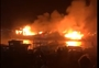 Nhiều tàu cá trú bão tại cảng Đá Bạc bỗng bốc cháy dữ dội