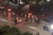 Hai nhóm trai làng hỗn chiến trên phố huyện lúc nửa đêm ở Thái Nguyên