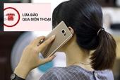 Bộ Công an khuyến cáo hình thức lừa đảo tinh vi qua điện thoại
