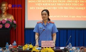 Đồng chí Nguyễn Hải Trâm làm việc với Trường đào tạo, Bồi dưỡng nghiệp vụ kiểm sát tại TP HCM
