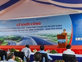 Đồng loạt khởi công 3 dự án thành phần thuộc cao tốc Bắc - Nam
