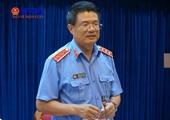 Đồng chí Nguyễn Huy Tiến làm việc, kiểm tra công tác tạm giữ, tạm giam ở Bình Dương