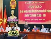Hải Phòng thông tin về tổ chức Đại hội Đảng bộ