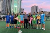 Giao lưu bóng đá chào mừng ngày giải phóng Thủ đô