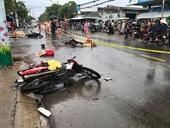 Ô tô tông liên hoàn 2 xe máy, 2 người tử vong tại chỗ