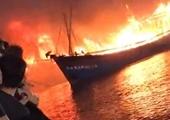Nhiều tàu cá bốc cháy, thiêu rụi hàng chục tỉ đồng ở Nghệ An