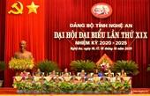 Viện trưởng VKSND tỉnh Nghệ An tái trúng cử BCH Đảng bộ tỉnh nhiệm kỳ 2020-2025