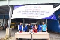 Nhật Bản hỗ trợ 50 máy lọc nước và 250 tấm trải nhựa cho Thừa Thiên – Huế