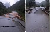 Quốc lộ 12A lên Cửa khẩu Cha Lo vỡ vụn như động đất
