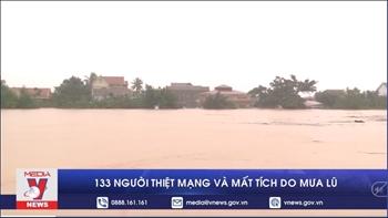133 người thiệt mạng và mất tích do mưa lũ