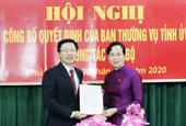 Tỉnh ủy Hà Nam chỉ định Trưởng Ban Dân vận, Bí thư Thành ủy Phủ Lý