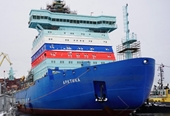 Thượng cờ tàu phá băng nguyên tử mạnh nhất thế giới của Nga