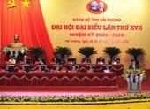 Phiên trù bị Đại hội đại biểu Đảng bộ tỉnh Hải Dương lần thứ XVII, nhiệm kỳ 2020-2025