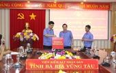 VKSND tỉnh Bà Rịa – Vũng Tàu quyên góp ủng hộ đồng bào các tỉnh miền Trung
