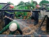 Kỳ lạ cháy nhà rơm giữa trời mưa ở Hà Tĩnh
