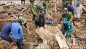 Điều động chó nghiệp vụ vào tìm kiếm nạn nhân mất tích tại xã Trà Leng