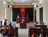 VKSND huyện An Dương tổ chức phiên tòa cụm án kinh doanh thương mại