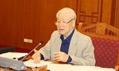 Tổng Bí thư, Chủ tịch nước Nguyễn Phú Trọng chủ trì họp về phòng, chống tham nhũng