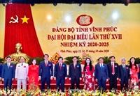 Danh sách Ban chấp hành Đảng bộ tỉnh Vĩnh Phúc khóa XVII, nhiệm kỳ 2020 - 2025