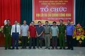 Công an tỉnh Đồng Nai công khai xin lỗi và cải chính cho 5 công dân bị oan sai