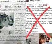 Điều tra làm rõ người đăng thông tin sai về bé gái 3 tuổi bị bắt cóc