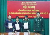 Vợ và con Thiếu tướng Nguyễn Văn Man được tuyển dụng, trao quân hàm