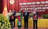 Thái Bình có thêm 1 Phó Chủ tịch HĐND và 2 Phó Chủ tịch UBND tỉnh