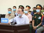 Cựu đô đốc Nguyễn Văn Hiến kể công lao trước tòa để xin hưởng án treo