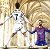 Bức ảnh Messi quỳ gối trước C Ronaldo gây phẫn nộ