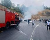 Ô tô lao sườn đồi bốc cháy trên đường vào Yên Tử khiến 3 người thương vong