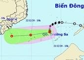 Bão số 14 suy yếu thành áp thấp nhiệt đới trên biển Đông