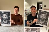 Xúc động trước những bức tranh vẽ Messi và Maradona