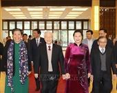 Tổng Bí thư, Chủ tịch nước dự gặp mặt các thế hệ đại biểu Quốc hội