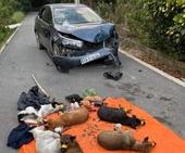 Trộm chó bị phát hiện, cẩu tặc dùng ô tô tông thẳng vào xe Công an