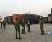Bắt giữ  binh đoàn xe chở 300 tấn hàng nhập lậu về Hà Nội tiêu thụ
