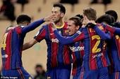 Messi nhận thẻ đỏ, Barcelona tan mộng giành Siêu Cup Tây Ban Nha