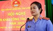 Đồng chí Nguyễn Hải Trâm chỉ đạo công tác tại VKSND tỉnh Long An