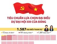 Tiêu chuẩn lựa chọn đại biểu dự Đại hội XIII của Đảng
