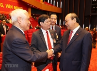 Những hình ảnh cập nhật về phiên khai mạc Đại hội XIII của Đảng