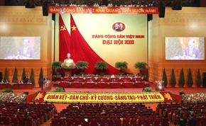Thông cáo báo chí về ngày làm việc thứ ba Đại hội XIII của Đảng