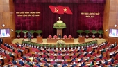 Sáng nay 1 2 , Đại hội XIII của Đảng họp phiên bế mạc