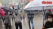 Toàn bộ học sinh, giáo viên trường tiểu học Xuân Phương lấy mẫu xét nghiệm COVID-19