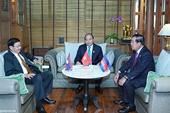 Lãnh đạo Lào và Campuchia chúc mừng năm mới Đảng, Nhà nước và nhân dân Việt Nam