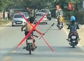 Xác minh được thanh niên điều khiển xe mô tô, cầm dao dọa người đi đường
