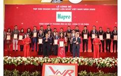Hapro 14 năm liên tiếp được vinh danh top 500 doanh nghiệp lớn nhất Việt Nam